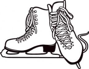 Image result for hockey skates clip art