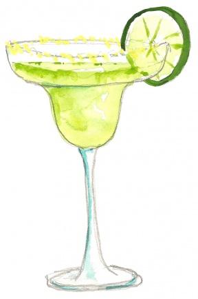 Margarita cocktail clipart mexican fiesta digital graphic | Etsy