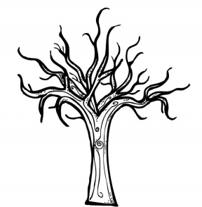 tree coloring page with roots fall trees coloring pages bare