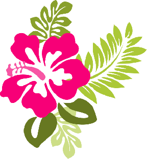 Blue Hibiscus Clipart - Cliparts Zone